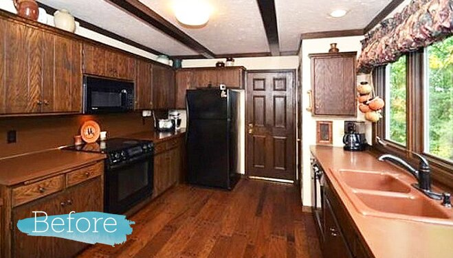 Before After DIY Kitchen Remodel Wayfair Impressive Kitchen Remodel Boston Set