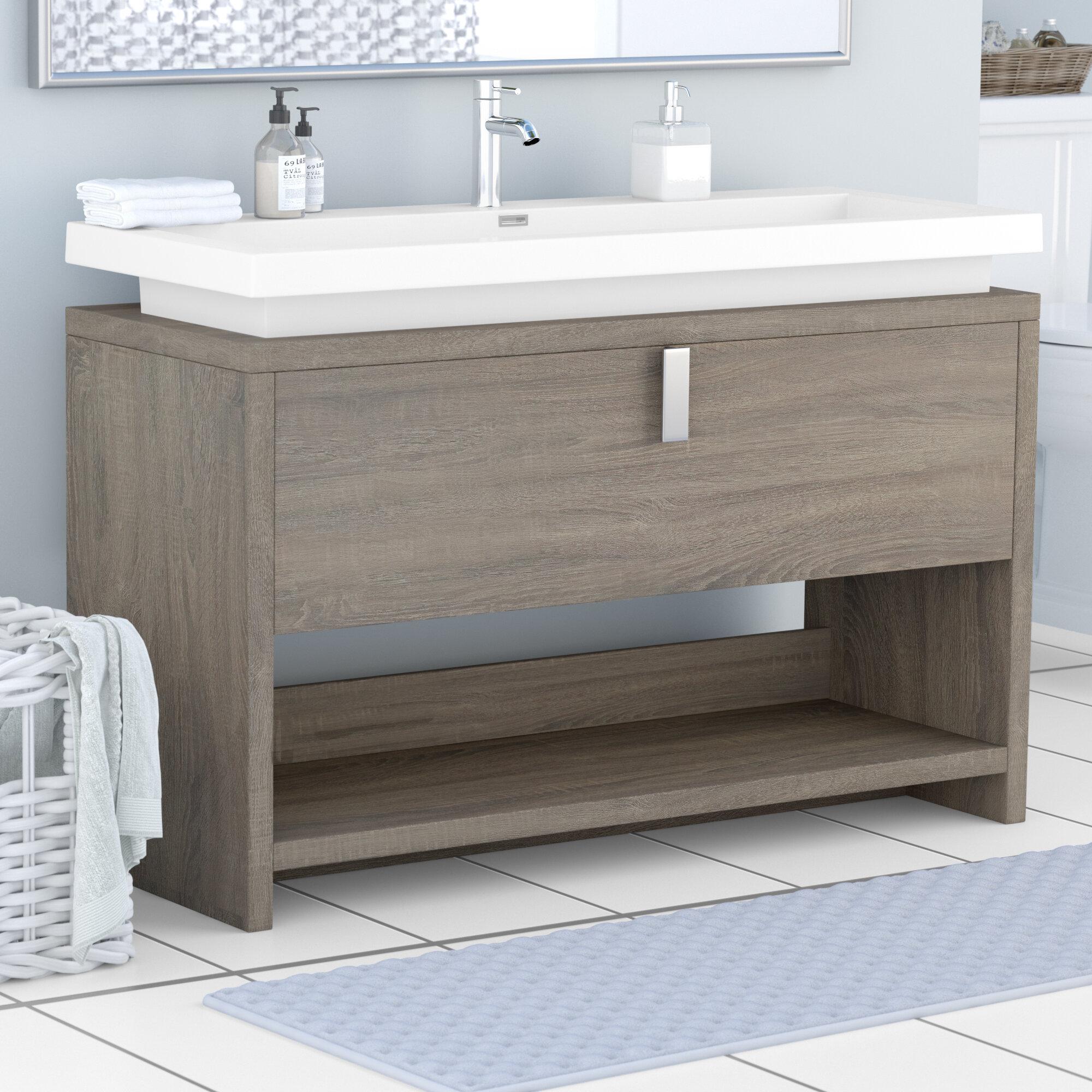 orren ellis haycraft 47 single bathroom vanity set reviews wayfair rh wayfair com 47 inch bathroom vanity without top 47 single bathroom vanity