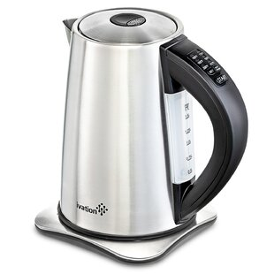 Ivation 1.8 Qt. Precision-Temp Cordless Stainless Steel Electric Tea Kettle