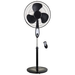 18 Oscillating Stand Fan With Remote