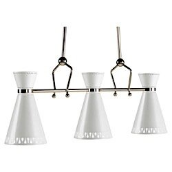 Robert Abbey Jonathan Adler Havana 3-Light Kitchen Island Pendant