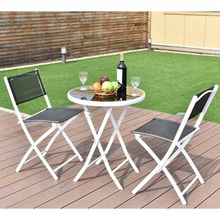 Ebern Designs Bomers 3 Piece Bistro Set