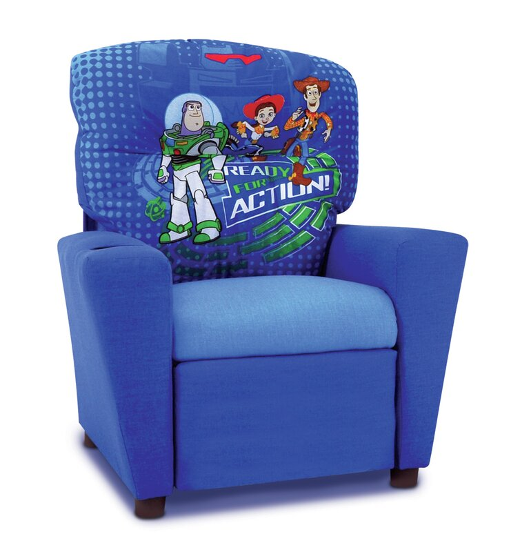 Disney  Toy Story 3  Kids Recliner with Cup Holder  sc 1 st  Wayfair & KidzWorld Disney