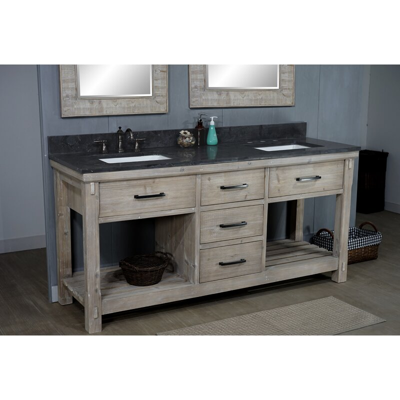 Union Rustic Isaak 72 Double Bathroom Vanity Set Wayfair