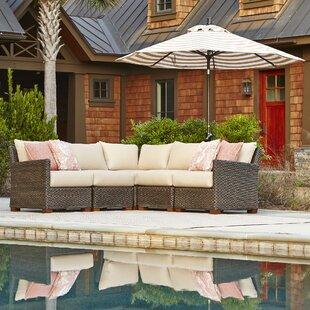 Gretchen Patio Sectional with Cushions by Bay Isle Home