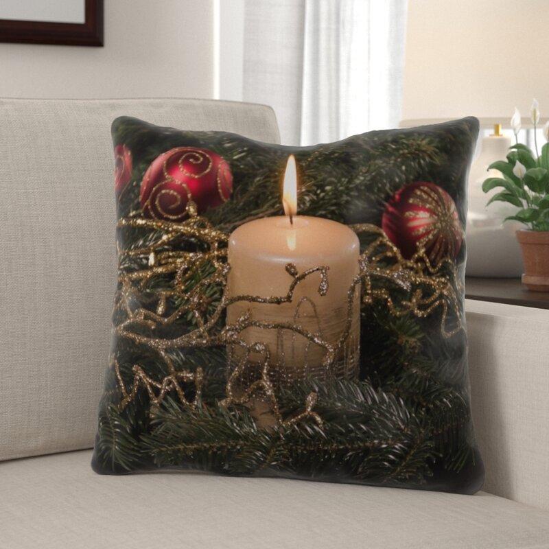 The Holiday Aisle Rigoberto Christmas Indoor Outdoor Canvas Throw Pillow Wayfair