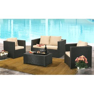 Strong 4 Piece Sofa Set with Cushions