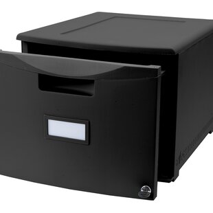 Storex 1-Drawer Lateral Filing Cabinet