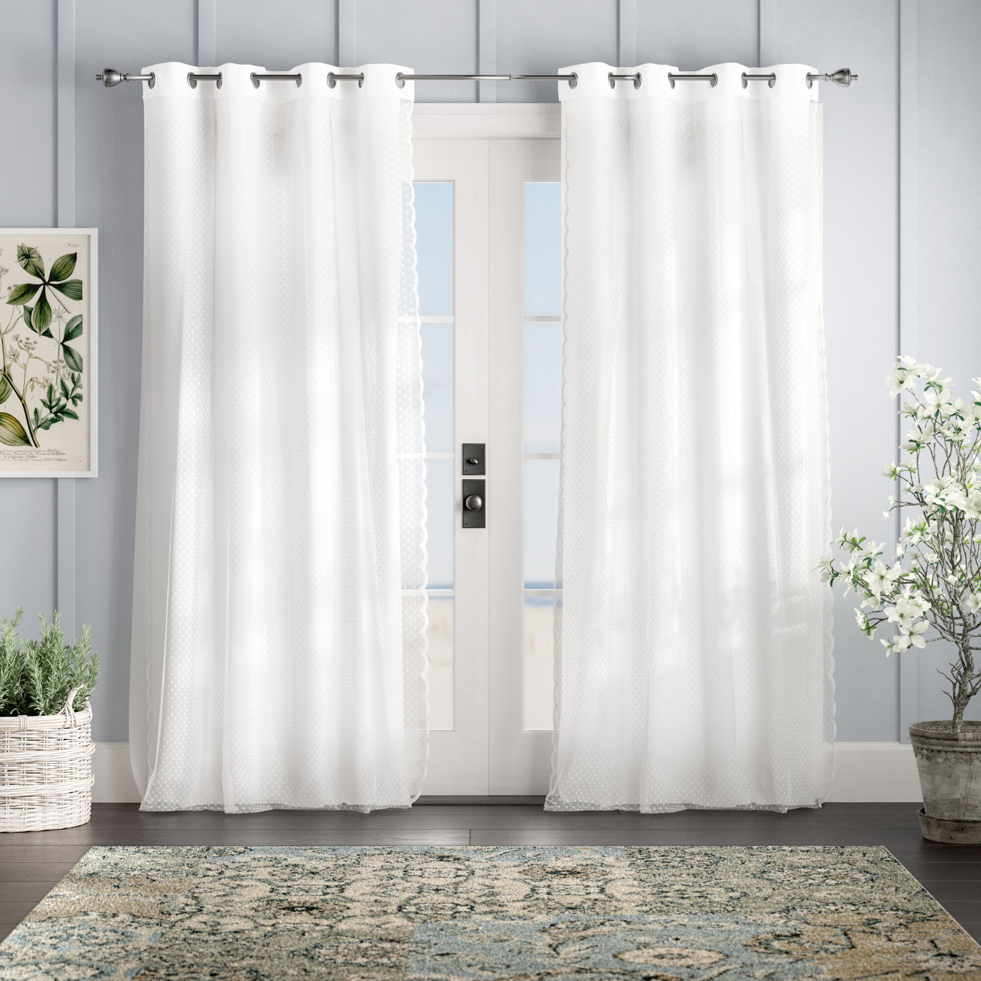 Holland Solid Semi Sheer Thermal Grommet Curtain Panels Reviews Birch Lane