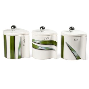 Vivere 3 Piece Kitchen Canister Set