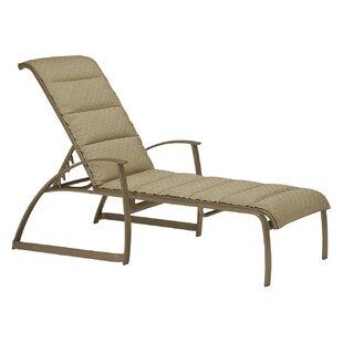 Tropitone MainSail Padded Sling Reclining Chaise Lounge