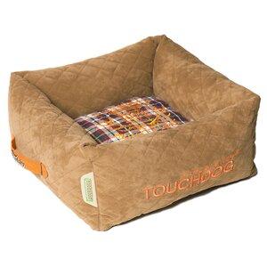 Exquisite-Wuff Posh Rectangular Diamond Stitched Fleece Plaid Dog Bed