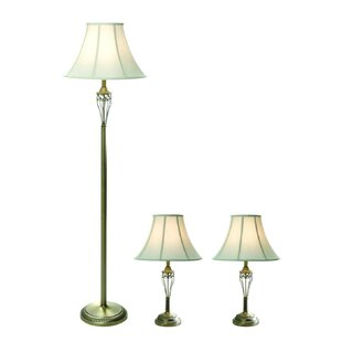 Buying Arbor Glen Traditional 3 Piece Table and Floor Lamp Set By Fleur De Lis Living