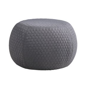 Evelynn Contemporary Geometric Ottoman by Ivy Bronx