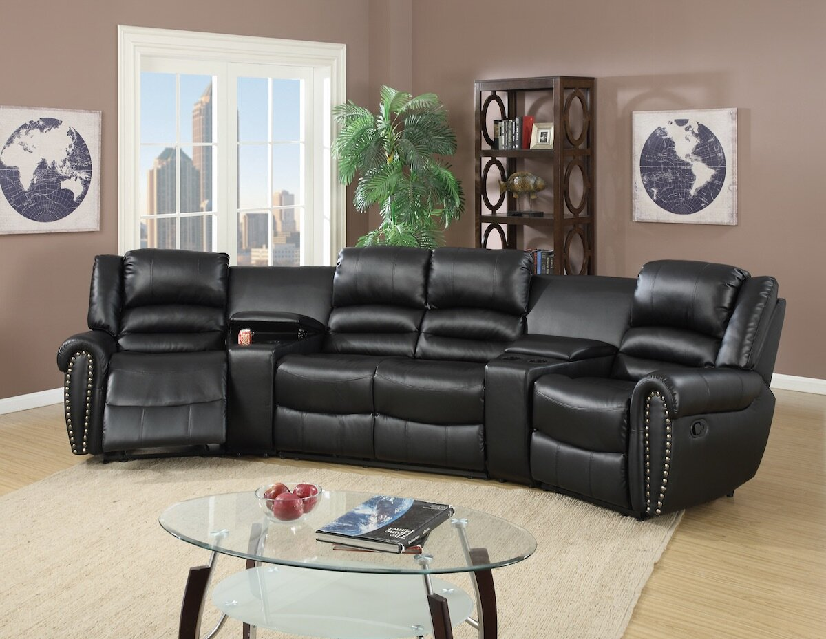 Red Barrel Studio Home Theater Sectional & Reviews | Wayfair