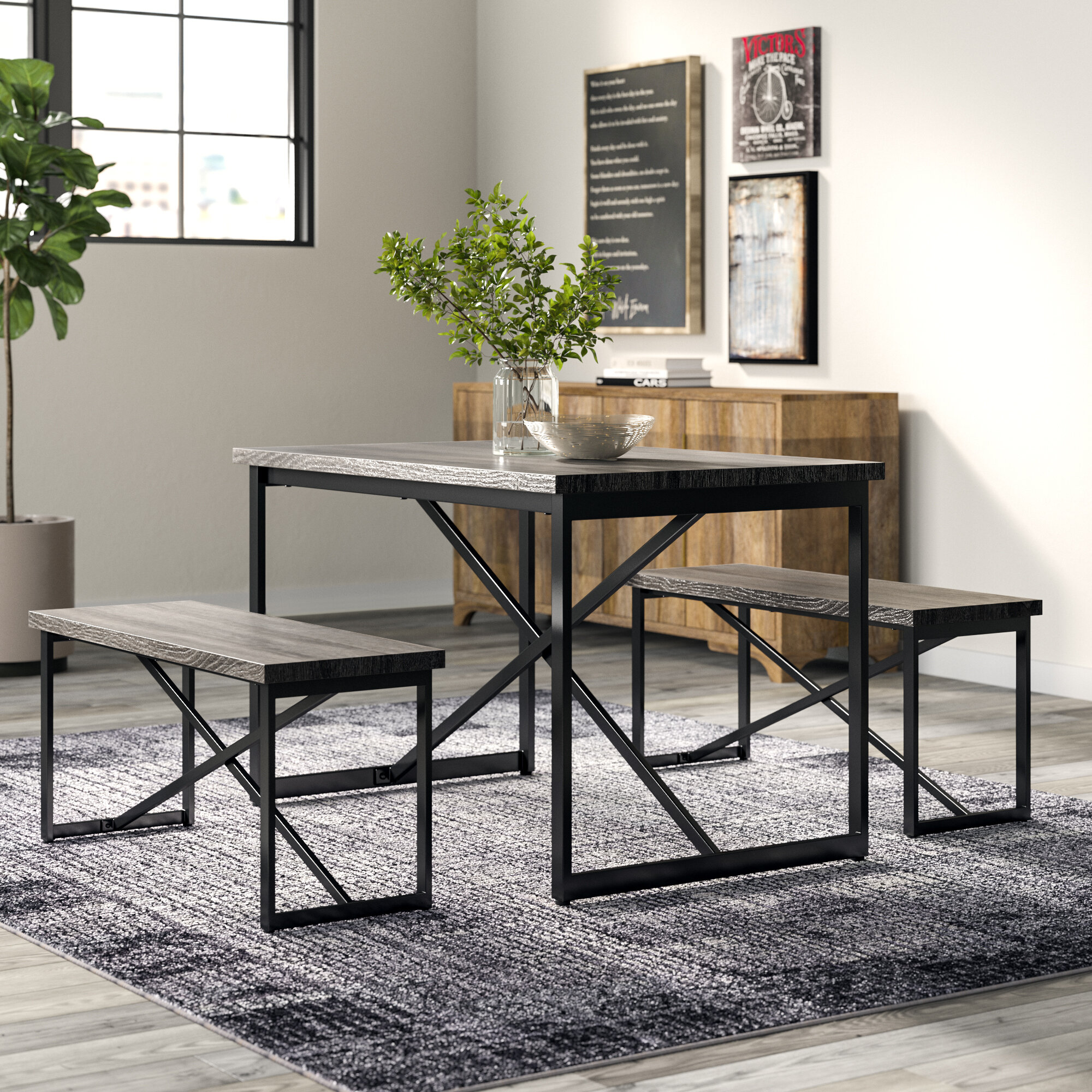 Bearden 3 Piece Dining Set