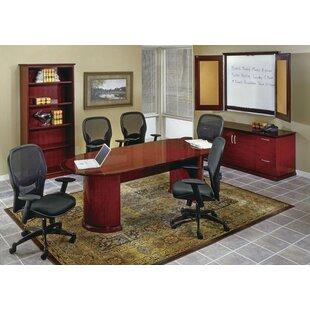 OSP Furniture Mendocino 4-Piece Desk Office Suite