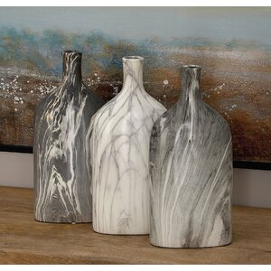 Ceramic Bottle Vase (Set of 3)