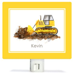 Oopsy Daisy Construction Vehicles - Bulldozer by Brett Blumenthal Customizable Night Light