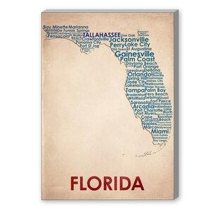 Framed Map Of Florida Wayfair