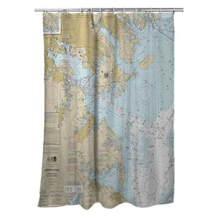 Pitzer Approaches To Baltimore Harbor MD Nautical Chart Shower Curtain