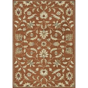 Fairfield Hand-Tufted Rust Area Rug