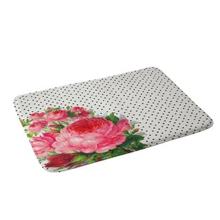 Floral Polka Dots Bath Rug by East Urban Home No Copoun
