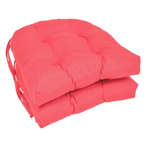 Outdoor Solid Twill Dining Chair Cushion  Set of 2 Pink Patio Furniture Cushions You ll Love   Wayfair. Pink Dining Chair Cushions. Home Design Ideas