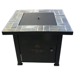 Michelle Fleur de Lis Steel Wood Burning Gas Fire Pit Table