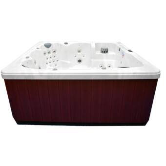Home and Garden Spas 90-Jet Hot Tub with Auxiliary | Wayfair Weber Liftgate Wiring Diagram on