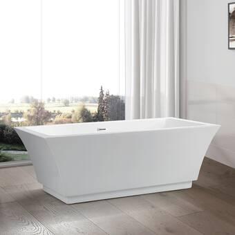 Kingston Brass Aqua Eden 70 X 34 Pedestal Soaking Bathtub Reviews Wayfair