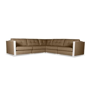 Orren Ellis Steffi Buttoned L-Shape Modular Sectional