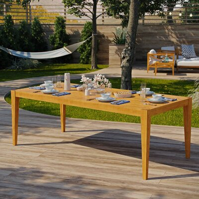 Dowell Teak Dining Table by Breakwater Bay Great price