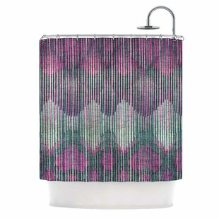 'Vintage Ikat' Single Shower Curtain