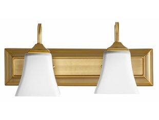 Hilton 2-Light Vanity Light By Charlton Home