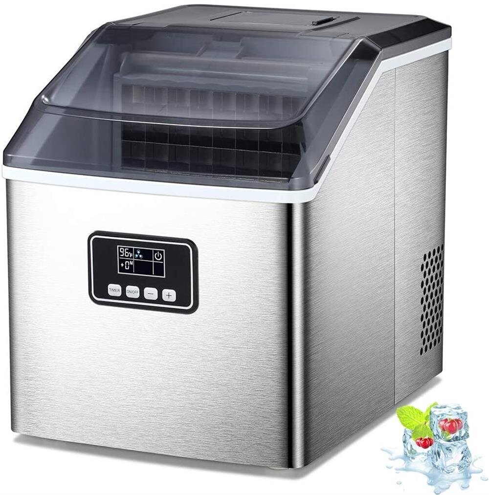 R W Flame Counter Top 40 Lb Daily Production Portable Ice Maker Wayfair