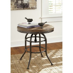 Sheila Round Metal Framed End Table by 17 Stories