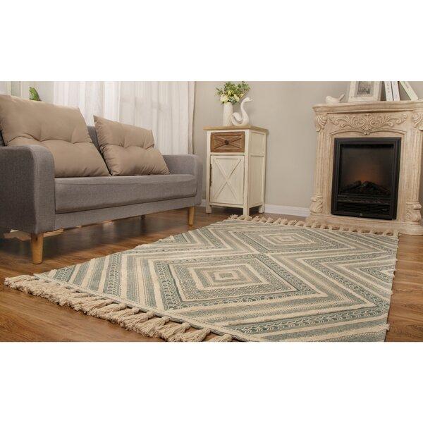 Foundry Select Monterrey Geometric Handmade Flatweave Cotton Teal Area Rug Reviews Wayfair