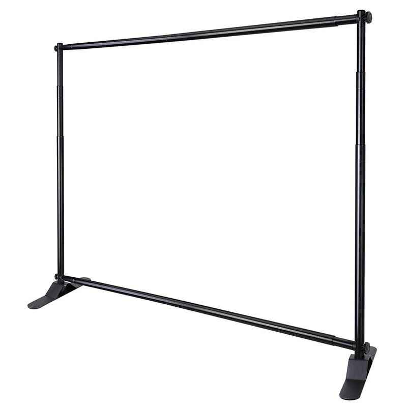 8 Ft Adjustable Background Banner Stand Backdrop Exhibitor Expanding Display