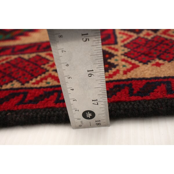 Bloomsbury Market Agapito Hand Knotted Wool Tan Red Green Rug Wayfair