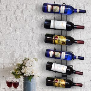 rowan 6 bottle wall mounted wine rack - Metal Wine Rack