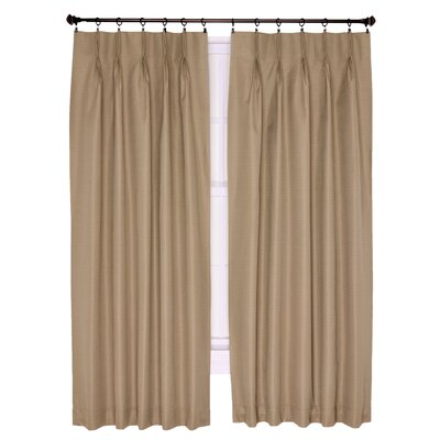 "Ellis Curtain Crosby Insulated Pinch Pleated Foamback Thermal Single Curtain Panel Colour: Linen, Size per Panel: 84"" W x 144"" L"