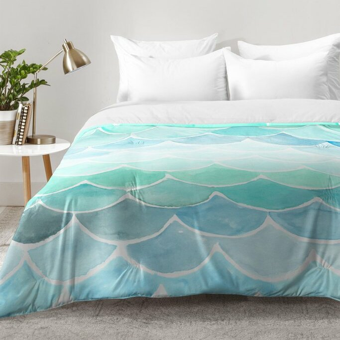 East Urban Home Mermaid Scales Comforter Set