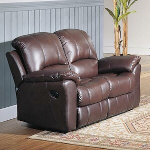 Kent Top Grain Leather Reclining Loveseat by Wildon Home ?
