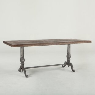 Hacker Solid Wood Dining Table by Williston Forge