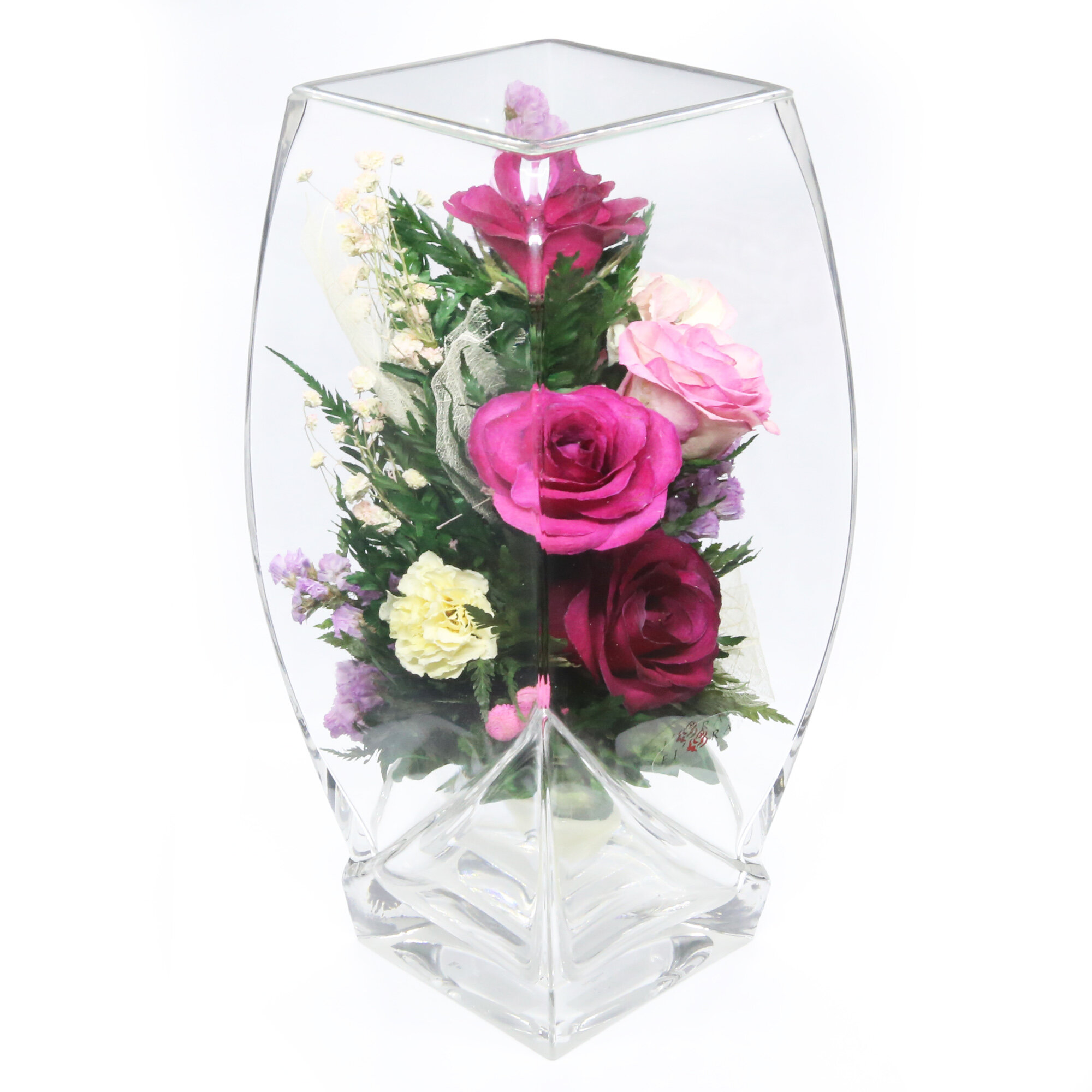 Charlton Home Mixed Floral Arrangements And Centerpiece In Decorative Vase Wayfair