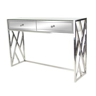 Orren Ellis Scorpio Modern 2-Drawer Mirrored Console Table