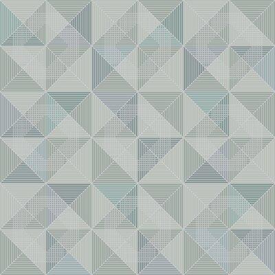 Brewster Home Fashions Wall Vision 33 x 20.9 Dabria Geometric Wallpaper Color: Blue
