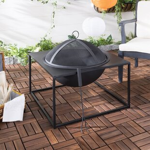 Safavieh Leros Iron Wood Burning Fire Pit
