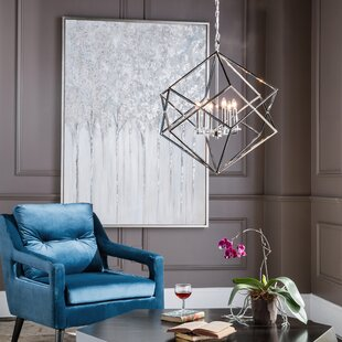 Wrought Studio Chapman Cube Pendant 6-Light LED Geometric Chandelier